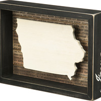 State Patriotic Pride Shadow Box Frame - Iowa