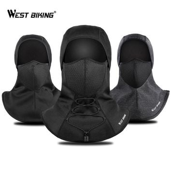WEST BIKING Winter Warm Cycling Face Mask Windproof Protection Bandana For Head Cover Ski Snowboard Bicycle Mesh Face Mask