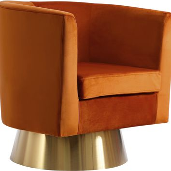 Bellagio Cognac Velvet Accent Chair