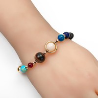 fashion Circular planet Bracelet Lucky beads Buddha beads Bracelets Bangles Charm Natural Stone Bracelet yoga Jewelry Women