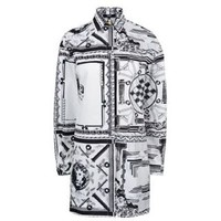 X Anthony Vaccarello Monochrome Iconic Print Oversized Shirt