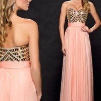 Strapless A Line Milano Formals Dress E1536
