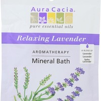 AURA CACIA: Aromatherapy Mineral Bath Relaxing Lavender, 2.5 oz