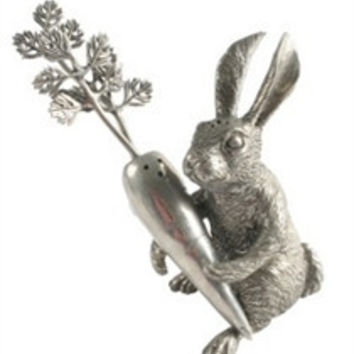 Pewter Rabbit and Carrot Salt and Pepper Set
