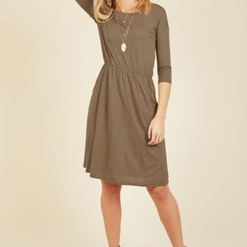 Set the Staple Knit Dress in Porcini