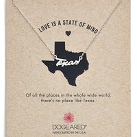 Women's Dogeared 'Love Is a State of Mind - Texas' Necklace