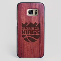 Sacramento Kings Galaxy S7 Edge Case - All Wood Everything