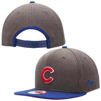 Chicago Cubs New Era Originial Fit 2-Tone Action 9FIFTY Snapback Hat – Heather Gray/Royal Blue