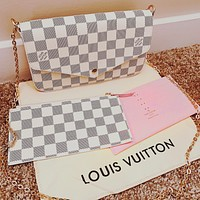 LV Hot Sale Popular Women Shopping Bag Leather Handbag Tote Shoulder Bag Satchel Three-Piece