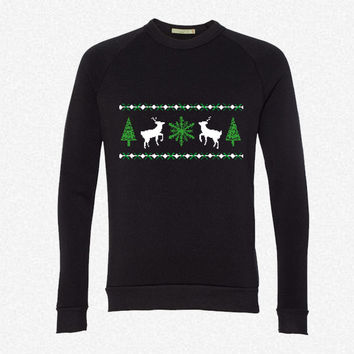 Ugly Christmas Sweater fleece crewneck sweatshirt