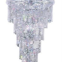 Adrienne - Large Hanging Fixture (28 Light Modern Grand Crystal Chandelier) - 1530SR30