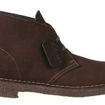 Clarks Originals Mens Desert Boots Brown Suede 26107879