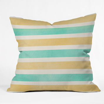 Allyson Johnson Summer Time Stripes Throw Pillow