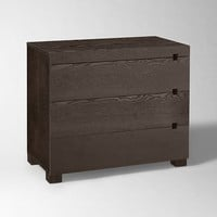 Square Cutout 3-Drawer Dresser - Chocolate