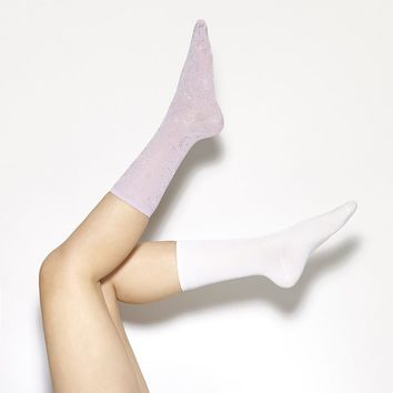 Simply Vera Vera Wang 2-pk. Floral Crew Dress Socks