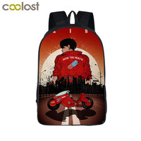 Japanese Anime AKIRA Shotaro Kaneda Backpack For Teenage Boys Children School Bags Sci Fi Film The Capsule Motorcycle Kids Bag