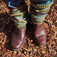 Ankle Boot Liners Combat Boot Liners Dance Legwarmers Ankle Warmers Hand Knitting
