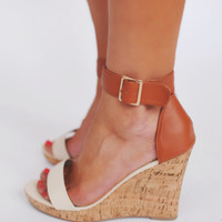Ivory/Camel Wedge