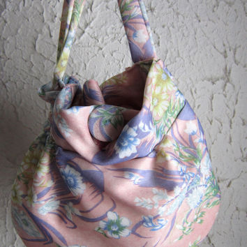 Summer Floral Evening Bag Wristlet Purse  Handmade