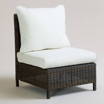 All-Weather Wicker Solano Sectional Armless Chair - World Market