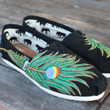 Peacock feather TOMS Classics