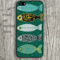Abstract pattern fish iphone 6 6 plus iPhone 5 5S 5C case Samsung S3,S4,S5 case Ipod Silicone plastic Phone cover Waterproof A0681