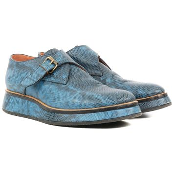 Dries Van Noten Blue Monk Straps