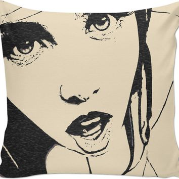 Adult series, couch throw pillow - She is always ready, waiting for every last drop