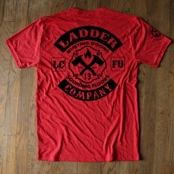 Ladder Company - Vintage Logo Red Tee