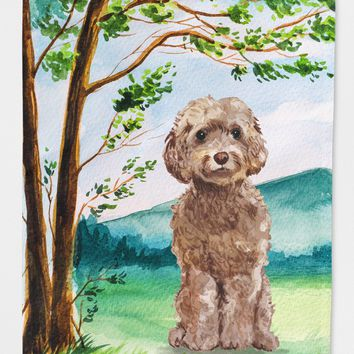 Under the Tree Labradoodle Flag Canvas House Size CK2023CHF