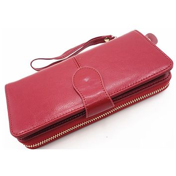 High Quality Women Brand genuine Leather Clutch Wallet,Female Long Purse,Lady Multi-function Coin Purse Phone Wallet card Holder