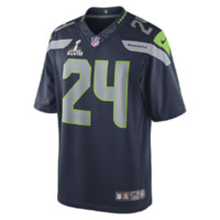 Nike NFL Super Bowl Seattle Seahawks Marshawn Lynch Men's Football Limited Jersey - College Navy