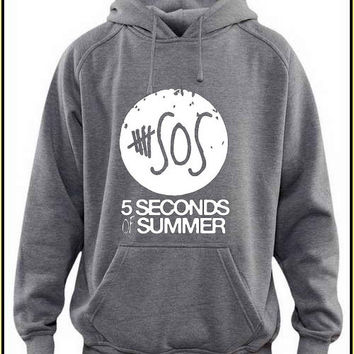 5 second of summer white logo custom crewneck hoodie for unisex