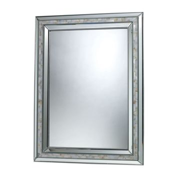 Sardis Mirror Brushed Steel,Mother of Pearl Shell