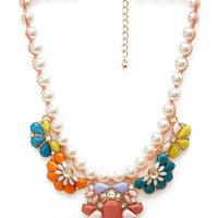 Candy Crush Faux Stone Necklace