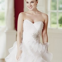 Plus Size Sweetheart Beading Organza Wedding Dress jy1902
