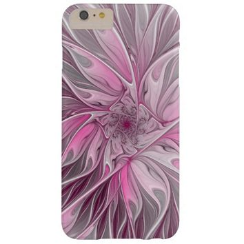 Fractal Pink Flower Dream, Floral Fantasy Pattern Barely There iPhone 6 Plus Case