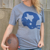 Football Helmet Tee - Gray