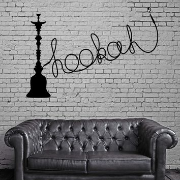 Hookah Wall Stickers Shisha Vinyl Decal Arabic Culture Smoking Decor Unique Gift (ig1947)