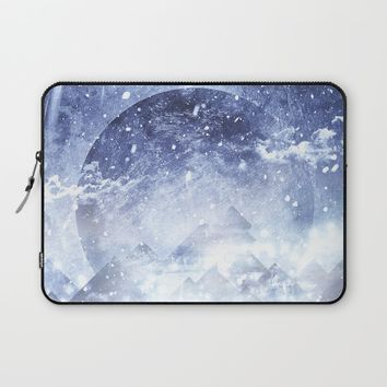 Even mountains get cold Laptop Sleeve by HappyMelvin