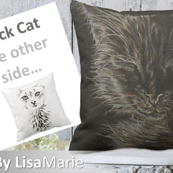Pet Pillow, Home Decor, Pet Portrait Pillow, Custom Pet Pillow, Cat Pillow, Kitty Pillow, Pet Cushion, Cat Cushion, Pet Owner Gift, Cat Gift