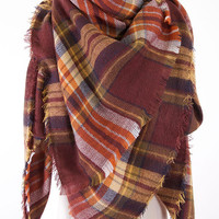 Blanket Scarf - Coffee