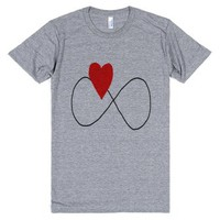 Love Forever-Unisex Athletic Grey T-Shirt