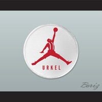 Set of 5 Urkel Red Jumpman Logo Spoof Embroidered Patches 2