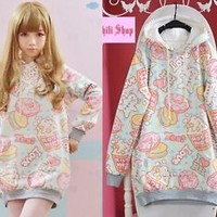 Cute Kawaii Colorful lolita cartoon fantasy Lady GAGA barbie Cakes Hoodie Shirt