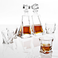 Glass Decanter Set of 6 | Eichholtz Sapphire