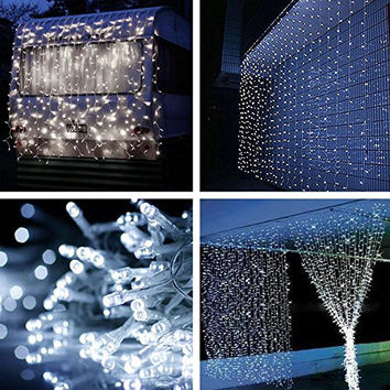 3*1M 160LED christmas outdoor decoration  curtain icicle string led lights 220V Garden Xmas Wedding Party