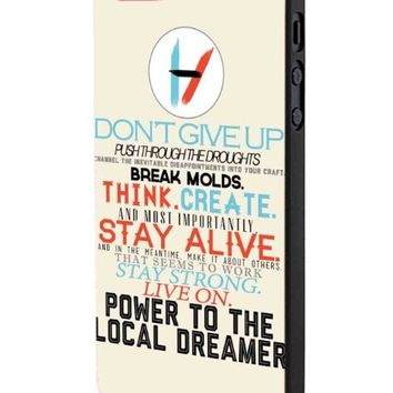 Twenty One Pilots Don'T Give Up iPhone 5 Case Hardplastic Frame Black Fit For iPhone 5 and iPhone 5s