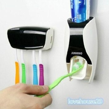 VON7TL Automatic Toothpaste Dispenser and Tooth Brush Holder Set [8270571713]