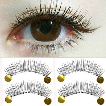 10Pair New Makeup False Eyelashes Soft Natural Cross Long Eye Lashes Extension